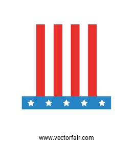 american hat isolated icon