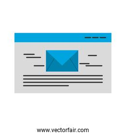 template with envelope mail isolated icon