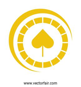 casino chips with spade