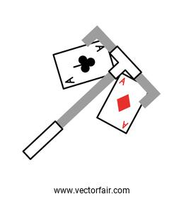 poker card with Casino picker
