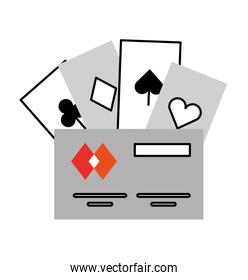 poker cards with credit card