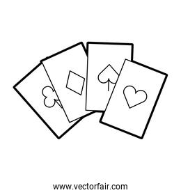 poker card isolated icon