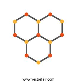structure molecular isolated icon