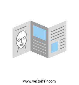 Artistic pamphlet isolated icon