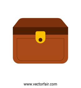 wooden trunk isolated icon