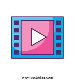 media player isolated icon
