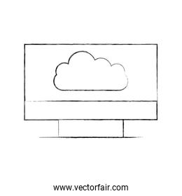 monitor computer with cloud computing