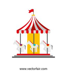 carnival carousel isolated icon