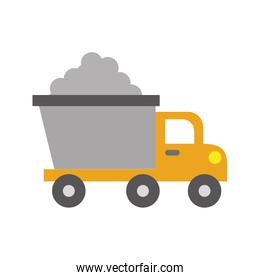 dump truck construction vehicle isolated icon