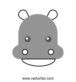 Wild hippopotamus isolated icon