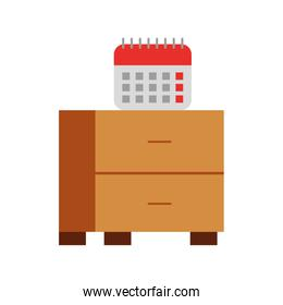 office drawer with calendar