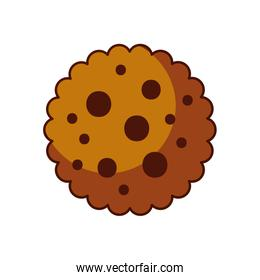 chocolate chip cookie dessert eating icon