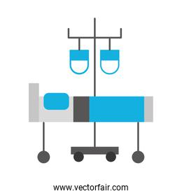 hospital medical bed and iv stand bag medicine