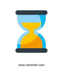 business time management hourglass and finance clock