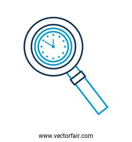 magnifying glass with clock handle equipment