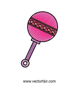 baby shower rattle toy gift icon