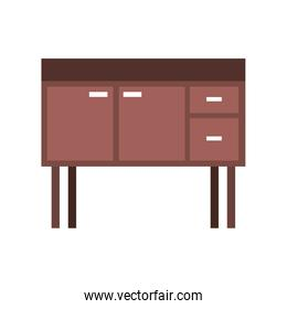 isolated table drawer furniture interior decoration design element