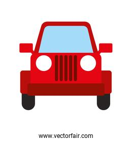 red jeep car vehicle transport camping