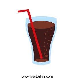 fast food glass cup cola drink bubbles