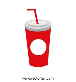 plastic soda cup with straw disposable takeaway