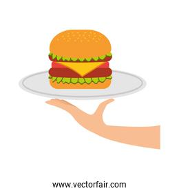 burger fast food tasty delicious snack lunch