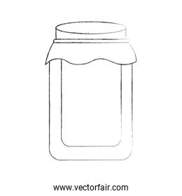 glass jar with cap filled with honey