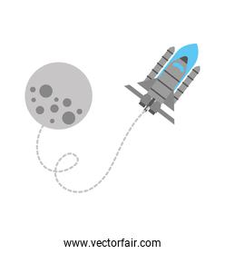 moon rocket space astronomy universe science