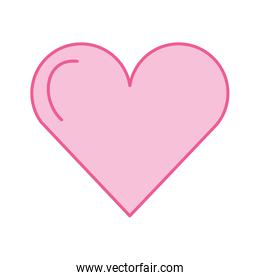 pink love heart romance adorable icon