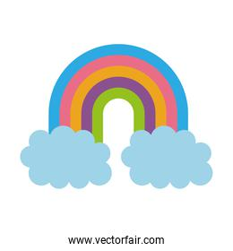 rainbow with clouds fantasy decoration dream