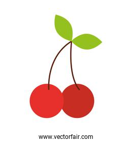 fruit cherry leaves natural delicious sweet