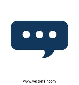 speech bubble chat message service support