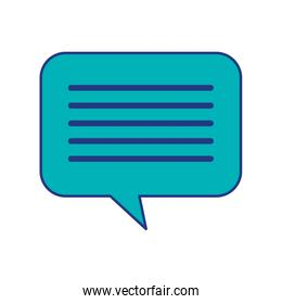 speech bubble message chat dialog media