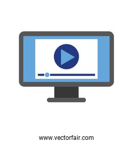 screen video player for web and internet media