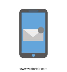 smartphone receiving email correspondence digital virtual