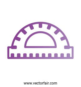 protactor ruler scale measure tool icon