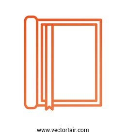 notebook with bookmark stationery office object element