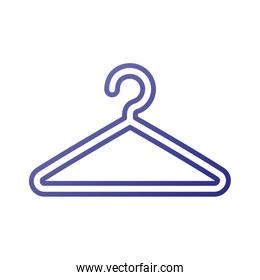 plastic clothes hanger laundry tool icon