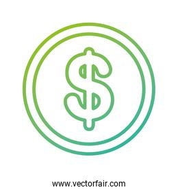 currency coin dollar money cash icon