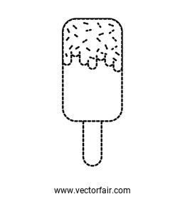 ice cream lollipop dessert on wooden stick