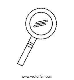 school magnifier glass research science study