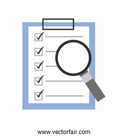 clipboard checklist report with magnifier technology