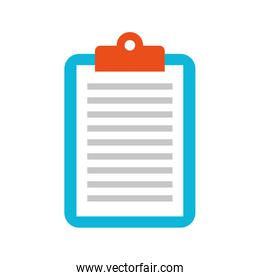business clipboard paper report document