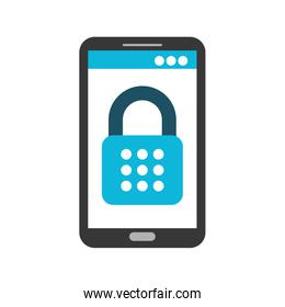 mobile phone padlock access data safety system