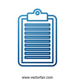 business clipboard paper line style icon