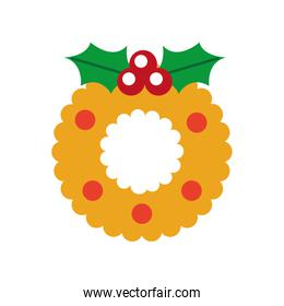 christmas wreath with holly berries ball festive design