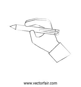 hand with pen write concept