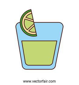tequila shot with lime slice drink liquor mexican