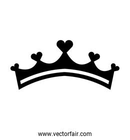 girly princess royalty crown with heart jewels