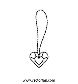 cute necklace heart jewelry for princess girl