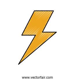 electric lightning bolt with shading effects